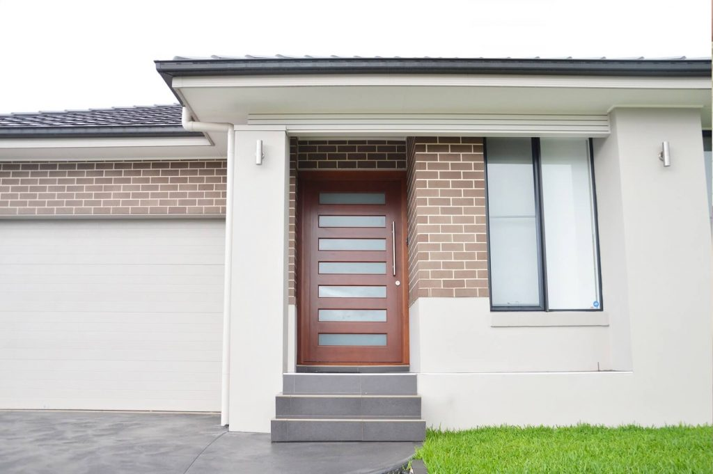frosted glass front entry 1020mm wide door